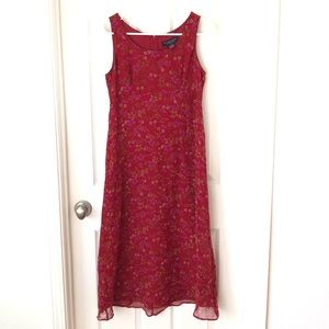 Vintage Robbie Bee 100% Silk Dress 8 petite